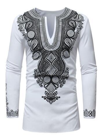 Мода Африканский ту национальность этническая печать футболка новый мужской женский футболка мужская женская хип-хоп повседневная футболка