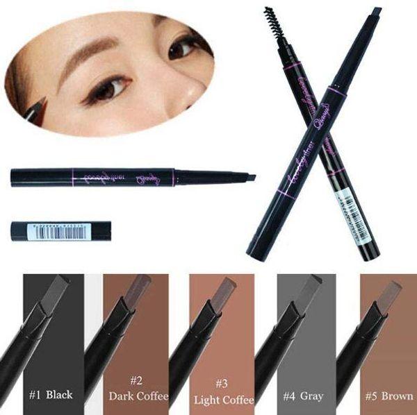 1 Pcs Waterproof Longlasting Triangle Natural Make up Eyebrow Pencil Eye Brow Liner With Brush Makeup Tools 5 Colors