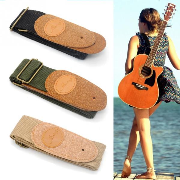 Gitar Kemer Yeni Marka Hotsell Dayanıklı Buzlu Ucu Halk Elektrik Gitar Bas Pamuk Malzeme Akustik Gitar Askı