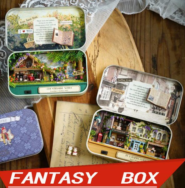 Wisdom House Diy Cabin Box Theater Wooden Hand-Assembled Villa Model Doll House Creative Gift