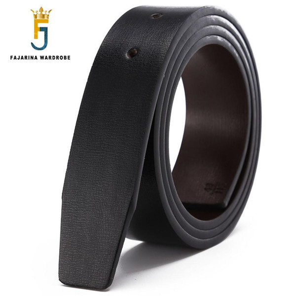 FAJARINA Quality Double Use Second Layer Genuine Leather Cowhide PU for Smooth Slide Style 3.3cm Belts Men without Buckle LUBT16