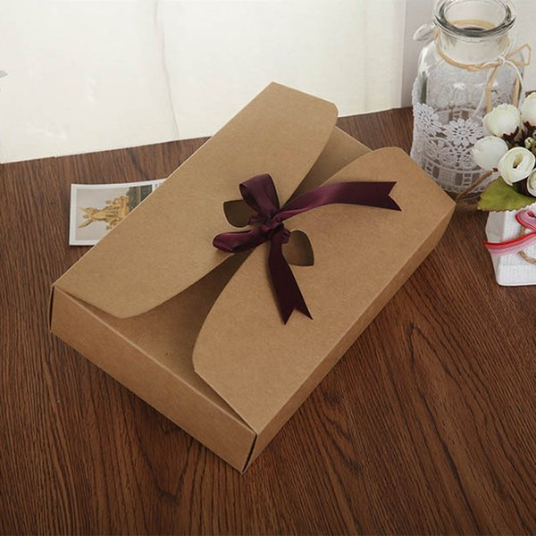 21.5*14*5cm big size Paper Craft Boxes, underwear packaging gift boxes Sock Packing Box LZ1211