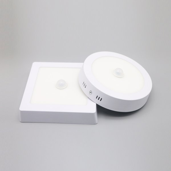huge selection of 62f89 8ca55 PIR Motion Sensor LED Downlight 12W LED Panel Light Infrared Sensor Lamp  Surface Mounted Square Round Shape Available Fitting Downlights Ip65 Led ...