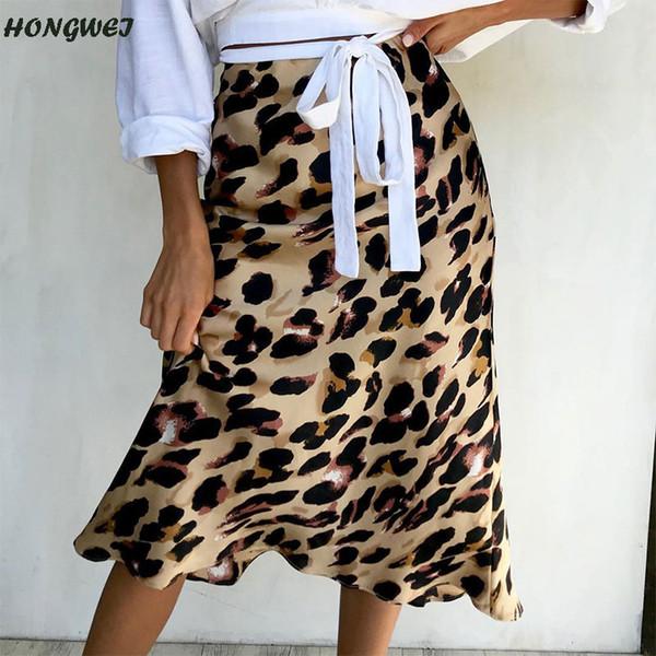 5328e8589430 Sexy Leopard Print Skirt Bottom Women Casual High Waist Ruffled Skirt Female  Party Club Bust Jupe