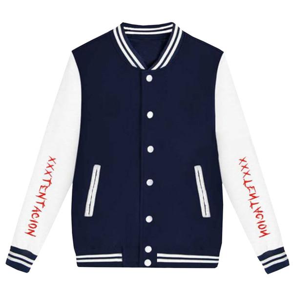 USA Hip Hop Jacke Musik Xxxtentacion Jacke Männer Streetwear Casacas Para Hombre Bedruckte Baseball Jacken Plus Größe 2018 Homme