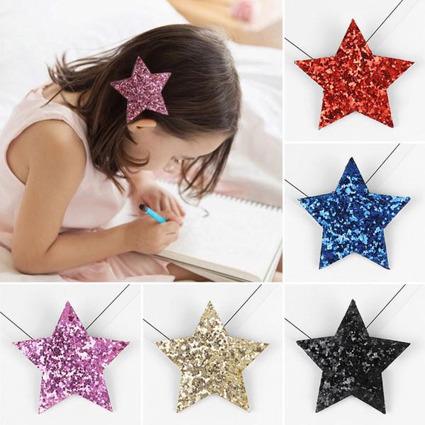 Bestselling Hairpin For Little Girl Cute Shine Headband Star Hair Clip Children Barrettes Headwear Hot Sale Princess Hair Accessories