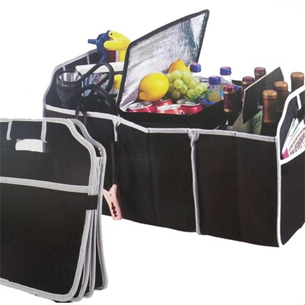 Trunk Storage Cargo Container Groceries Organizer Fabric Box Pockets Foldable Folding Fabric Box Car SUV 3 Pockets mx5141