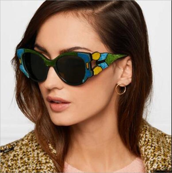 3571bdd2df16 vintage Big frame Oversized sunglasses woman fashion 2018 Brand Designer  Rainbow Frame Sun Glasses For Women