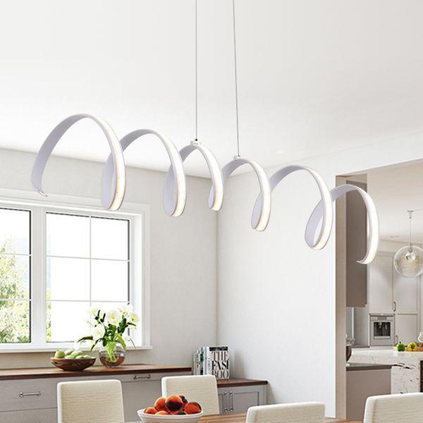 Compre Nueva L600 / 900 / 1200mm Modernas Lámparas De Aluminio LED Luces  Para Comedor Cocina Sala De Suspensión Luminaria Suspendu Lámpara Colgante  ...