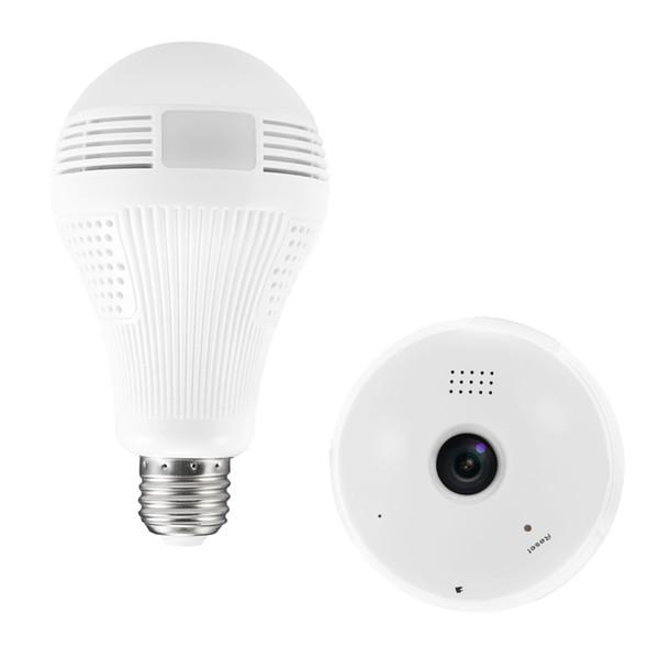 360 Degree cctv products 1.3M VR Bulb Light IP Camera WIFI Mini 960P HD Wireless CCTV System Support 128GB TF Card