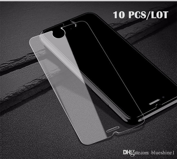blueshine 10Pcs/Lot 2.5D 9H 0.3mm Premium Protective Screen Protector For iPhone 8 7 Plus Tempered Glass For iPhone 8/7/6/6S/5s Glass