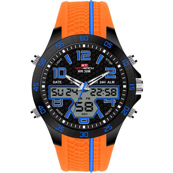 Reloj digital negro KAT-WACH Nuevo reloj deportivo de estilo deportivo con esfera grande para hombres