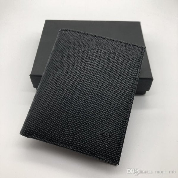 Luxury men's fashion leather wallet MB short clip brand designer card package MT business card holder high quality M B suit wallet wall