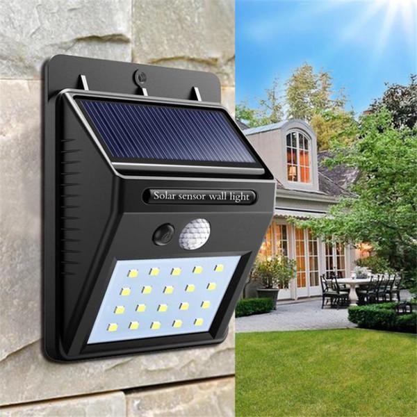 Waterproof outdoor wall lamp LED solar night light PIR motion sensor car switch solar light porch road fence garden light