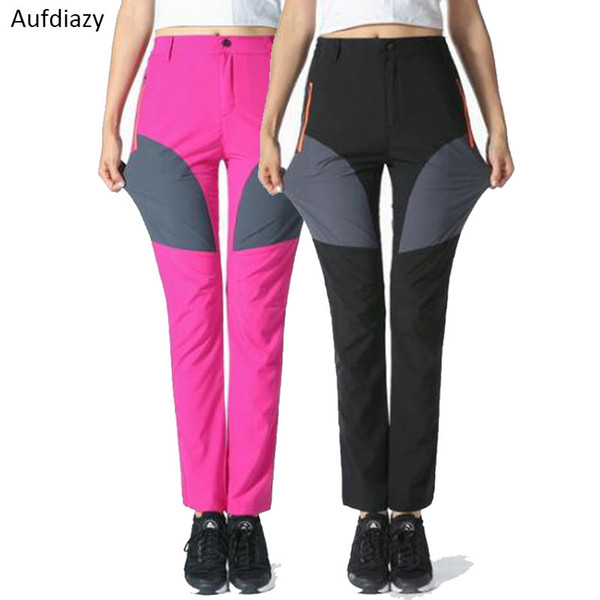 Aufdiazy Stretch Women's Summer Trekking Pants Female Outdoor Quick Dry Breathable Camping Hiking Tourism Cycling Trousers JW019 C18111401