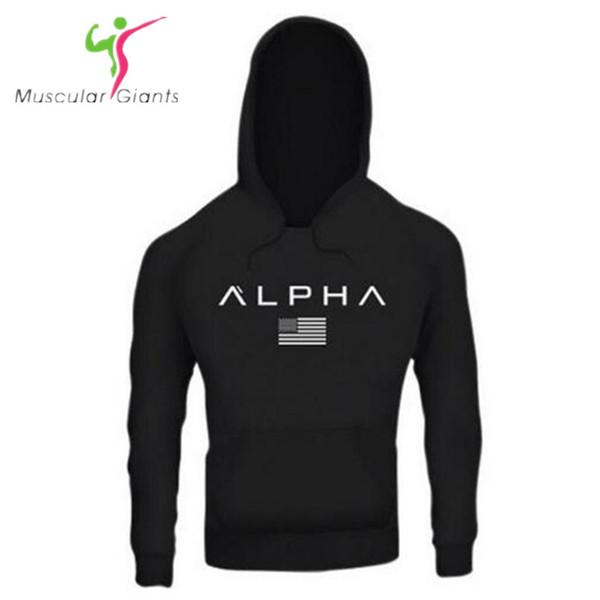 2018 Autumn Newest Fitness Men Gyms Hoodies Sweatshirt Bodybuilding Hoody Zipper Casual Sweatshirt Men's Slim Fit Hooded Jacket