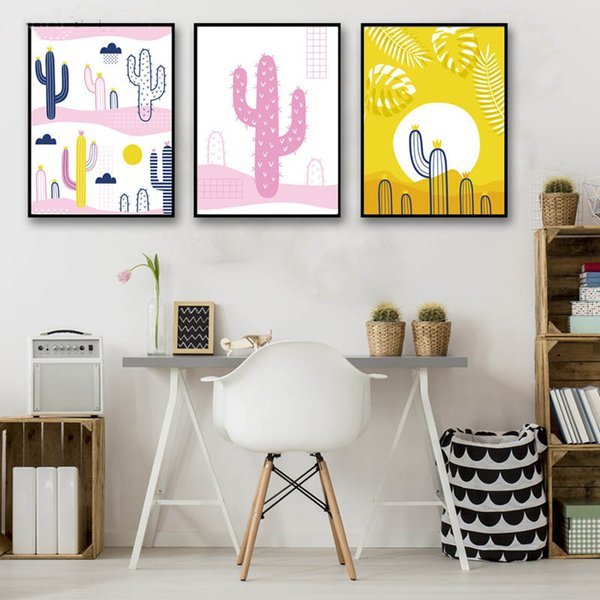 Tremendous 2019 Modern Nordic Style Posters Hd Prints Plants Colour Cactus Desert Art Canvas Painting Home Decor Wall Pictures For Living Room From Xu793737893 Ocoug Best Dining Table And Chair Ideas Images Ocougorg