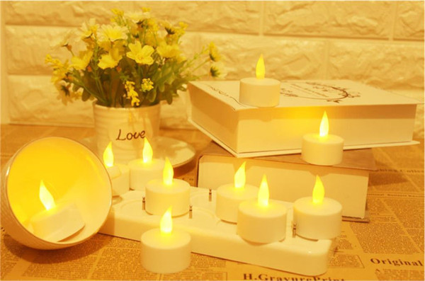 12 pcs LED Rechargeable Flameless Candle Light Waxless Safe Simulation Romantic Birthday Wedding Church Bar Decor Lamp