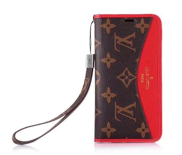 Para la caja de la caja del teléfono celular móvil de Iphone 7 funda de la cartera de cuero de la empresa de lujo con el marco de la foto del soporte