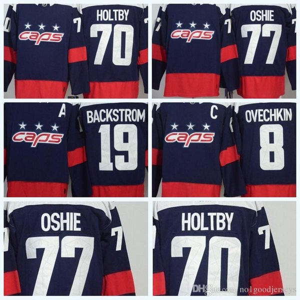 check out 90311 e87ff 2019 Mens 2018 NHL Jersey WC 70 Holtby 8 Alex Ovechkin 77 Oshie 19  Backstrom Blue Premier Hockey Jerseys High Quality Wholesale From  Topjerseys1688, ...