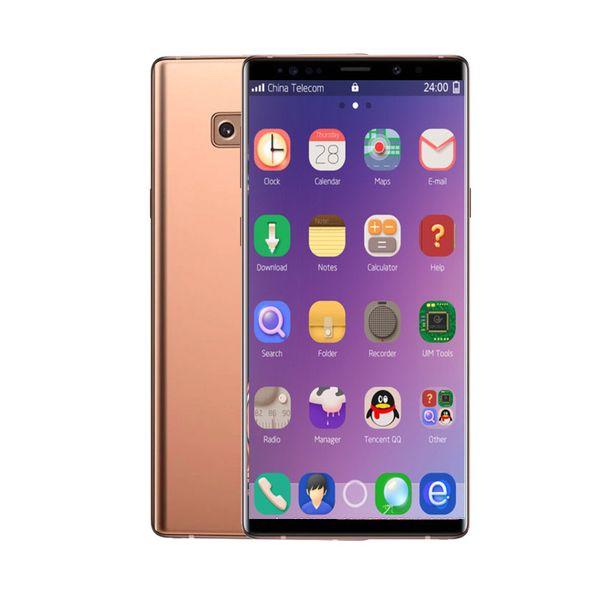 6.5inch Goophone N9 1GB RAM 8GB ROM MTK6580 QuadCore 8MP Andriod6.0 Sealed Box 3G WCDMA Glass Back Cover Phone Fingerprint Optional