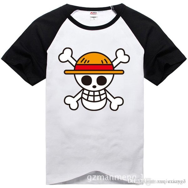 One Piece T shirt 2017 Fashion Japanese Anime Clothing Back Color Luffy Cotton T-shirt For Man And Women,Brand Camiseta,TH001