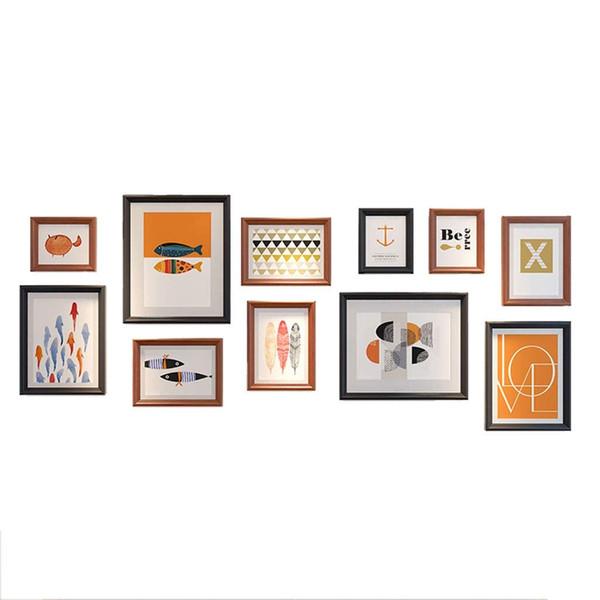 Идеальная Галерея 11 Шт Черный Фоторамка Стены Галерея Комплект Включает В Себя: Рамки, Висит Шаблон Стены, Декоративные Художественные Принты