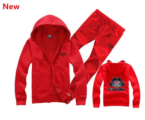 Алмаз поставки co мужчины толстовка женщины улица флис теплая толстовка зима осень мода хип-хоп примитивный пуловер L12