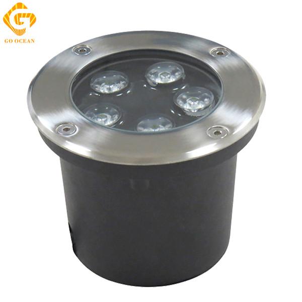 Lampes LED souterraines 5W 12V IP67 enterré en retrait LED extérieur sol chemin de jardin étage de la lampe de jardin paysage lumière RGB ingénierie lumières