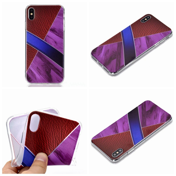 For Iphone XR XS MAX X 8 7 6 6S Granite Marble Soft TPU Cases Hit Color Bicolor Rock Luxury Fashion Gel Stone Rock Hybrid Cell Phone Cover