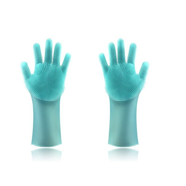 10pair Magic Silicone Dish Washing Gloves Eco-Friendly Scrubber Cleaning For Multipurpose Kitchen Bed Bathroom Hair Care DHL