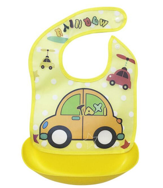 best selling Baby Feeding Cute Creative Baby Bibs Waterproof silicone Lunch Feeding Bibs Cartoon Saliva Towel Burp Cloths