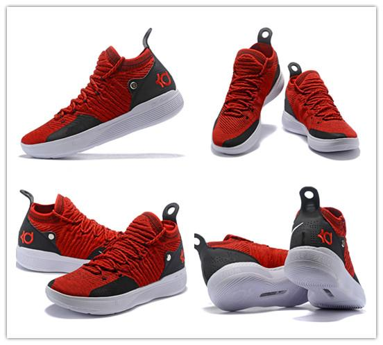 d33eec086 2019 Newest 2018 Men Basketball Shoes Air KD 11 Anniversary University Red  Still Kd Igloo BETRUE Kevin Durant Elite Sport Sneakers 11s From Danboss