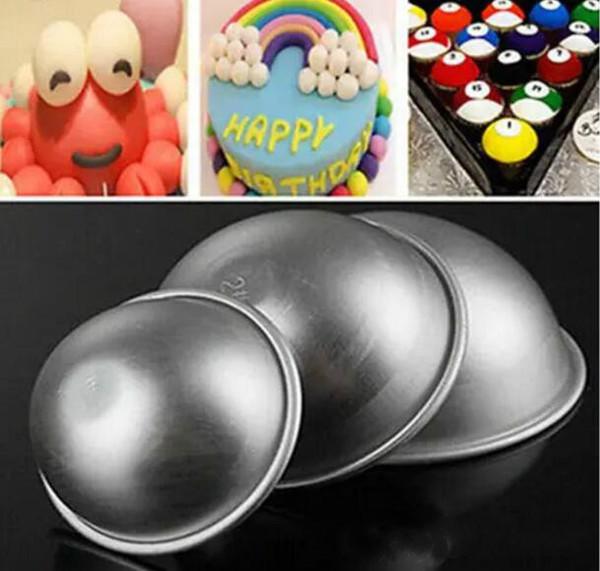 Nueva venta caliente del molde del molde de aluminio molde de la torta del elipsoide moldes de bomba de baño 3 tamaño 31 unids / lote