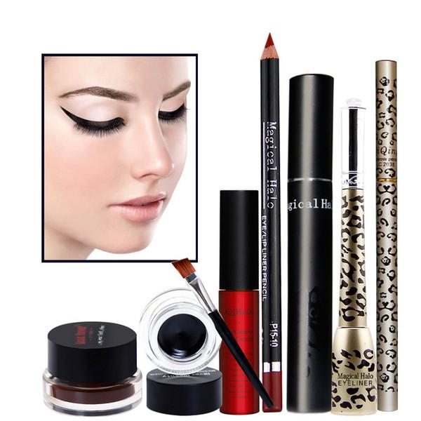 6 - piece makeup combination lip gloss eyeliner mascara eyebrow pencil eyeliner lip gloss pencil for girls