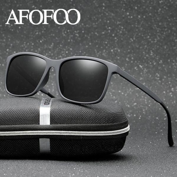AFOFOO Marke Design Männer HD Polarisierte Sonnenbrille TR90 Männer Platz Fahren Sonnenbrille Gafas UV400 Shades Brillen Oculos de sol