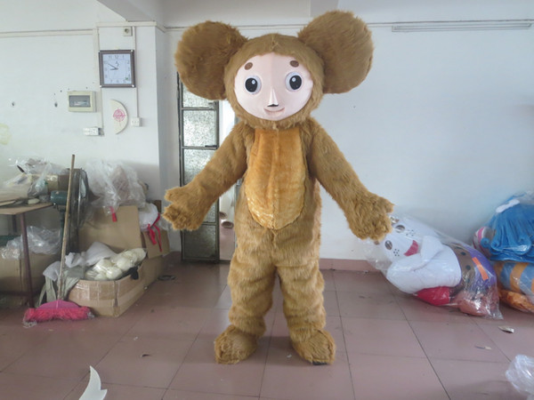 Adult Size Cartoon Monkey Party Costume xmas Brown Monkey Baby Mascot Outfit Halloween Chirastmas Party Fancy Dress Mascot Costumes Custom-m