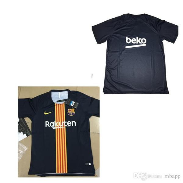 watch 95633 a7e8e 2018 Free Barcelona Football Shirt SUAREZ O.DEMBELE 2018 2019 Black Blue  FCB Training Jersey Messi PIQUE Coutinho Barcelona Football Shirt From ...