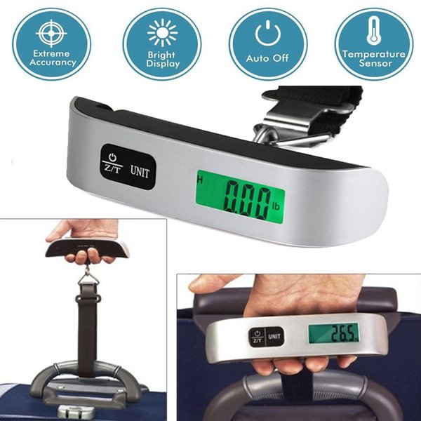 top popular 50kg 10g Portable Travel LCD Digital Hanging Luggage Scale Electronic 110lb Suitcase Weight 2020