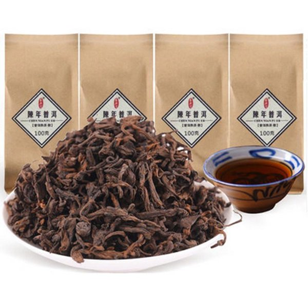 100g Юньнань Древнее дерево черный Пуэр чай Сыпучие Зрелый пуэр Органические Природный пуэр чай Старое дерево Приготовленный пуэр Preferred