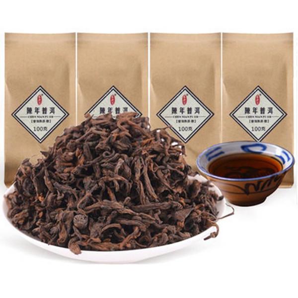 100g de Yunnan antiguo árbol Negro PU-erh té flojo maduro de Puer Orgánica Puer té natural al árbol viejo Cocido Puer Preferido