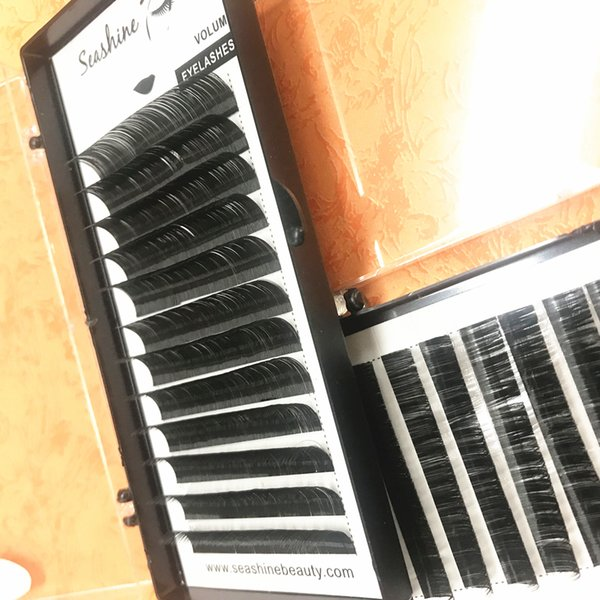 Wholesale Price Russian Volume lASHES 12 Rows/Tray Individual Eyelashes Extension Handmade Customize Logo Lashes Extension Free Shipping