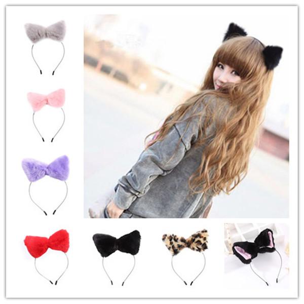Hair Accessories Girl Cute Cat Fox Ear Long Fur Hair Headband Anime Cosplay Party Costume B11