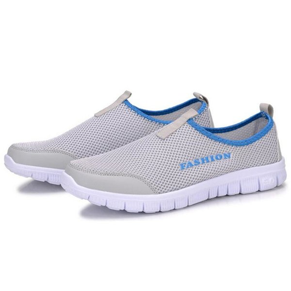Men Shoes Plus Size 35~46 Super Light Spring Summer Unisex Trainer Shoes Man Flats Causal Slip On MSN23