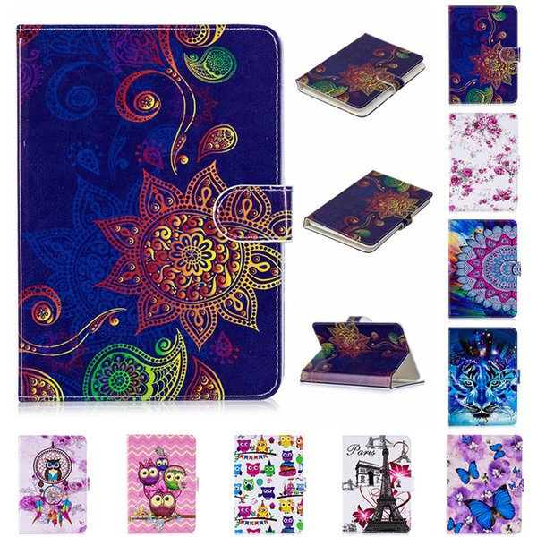 HX PU Leather Cover Universal Wallet Case for 7inch 8inch 10inch Tablet PC Folding Folio Case