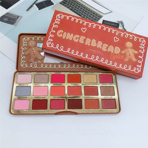 Drop ship Gingerbread Spice 18 colori ombretto dolce pesca Cioccolato Gold palette ombretto bianco Barretta al cioccolato Pesche ombretto 1pz