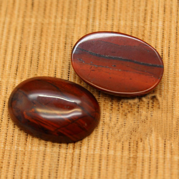 Red Jasper Crystal Healing Worry Stone - Pocket Palm Stone Natural gemstone Irregular cabochon for jewellery making or for festival gifts