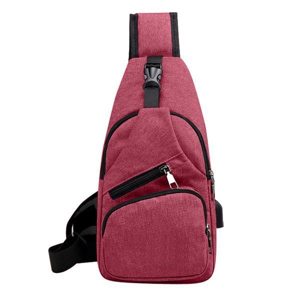 Sleeper # 5001 Unisex Mode Multifunktions Umhängetasche Outdoor Casual Brusttasche mit USB-Taschen für Frauen 2018 DA kostenloser Versand