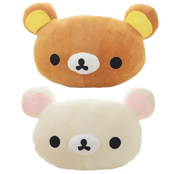 45X35cm Cartoon Rilakkuma Plush Pillow Staffed Soft Easy Bear Plush Toy Cute Relax Bear Sofa Cushion Children's Gift LA100