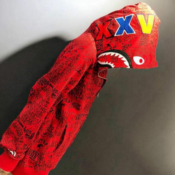 Felpe con cappuccio full zip con cerniera rossa Camo Camo all'ingrosso donna Uomo Casual Plus Giacca in maglione con cappuccio in velluto
